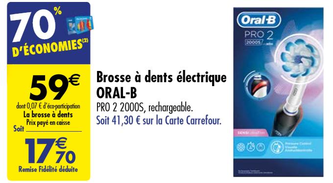 Carte Carrefour Rechargeable.Carrefour Brosse A Dents Electrique Oral B A 70