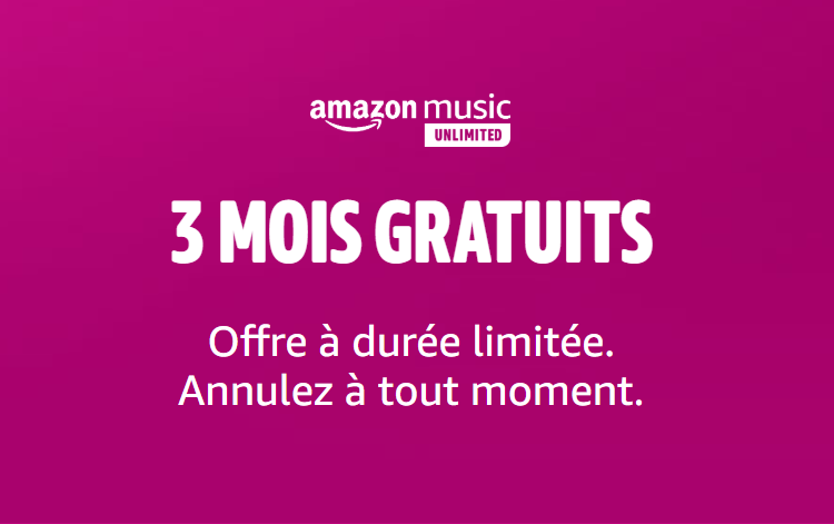 Bon plan: Amazon Music Unlimited : 3 mois gratuits sans engagement 🎶