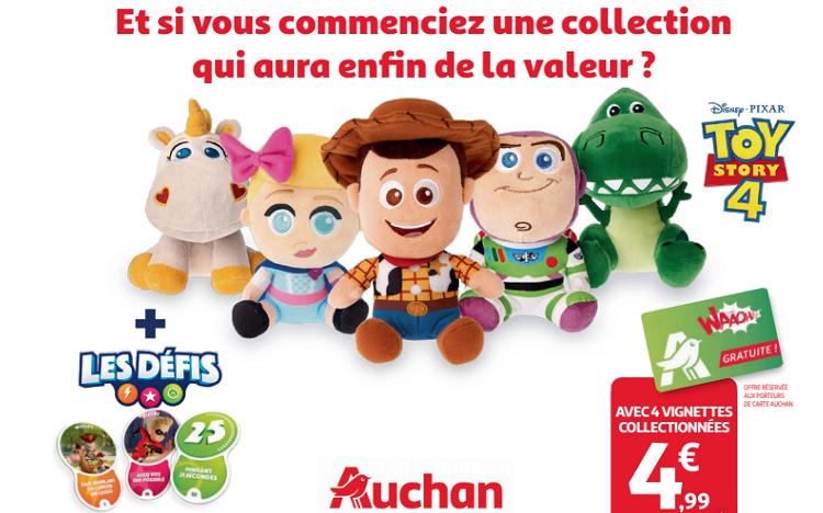Carte Auchan Baby.Auchan Collectionnez Vignettes Et Cartes Jeux Toy Story 4
