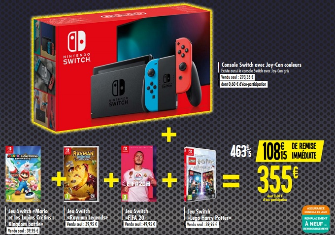 Calendrier Jeux Switch.Nintendo Switch Black Friday Les Plus Belles Promos