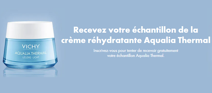 Échantillon Gratuit Crème réhydratante Vichy Aqualia Thermal
