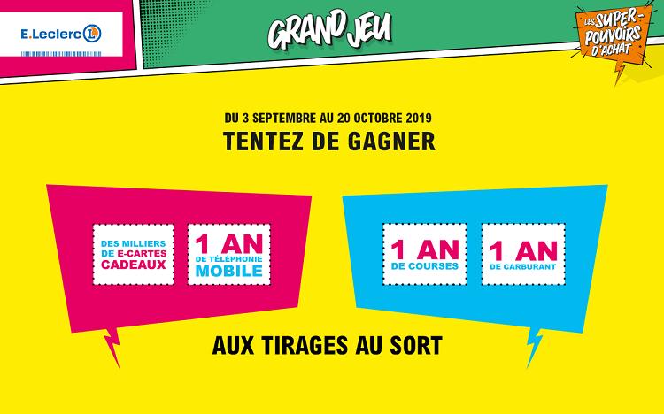 Carte Leclerc.Www Superpouvoirs Leclerc Votre Code Pour Gagner 1 159 000
