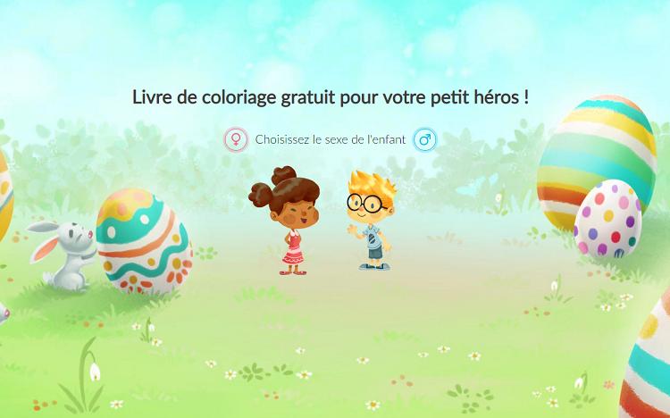 Coloriage De Paques Personnalise.Livre De Coloriage Paques Gratuit Pour Votre Petit Heros
