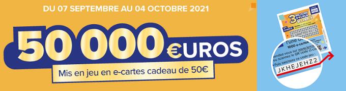 Saisissez votre CODE sur www.lemoiscarrefour.com pour gagner 50€