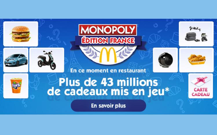 Calendrier Bon Plan Mcdo 2021 Monopoly McDo 2020 : carte chance et vignette gratuite !