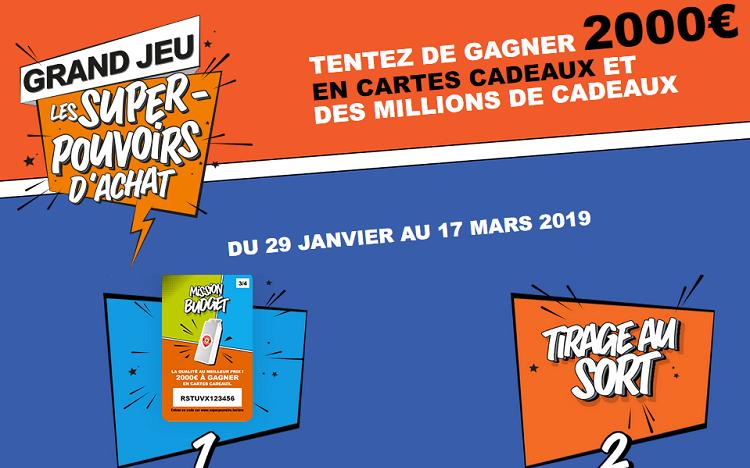 823240c416f Jeu Leclerc : des milliers de cartes cadeaux à gagner sur  www.superpouvoirs.leclerc