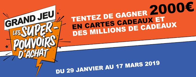 62378becddf Les Super Pouvoirs d'Achat sur www.superpouvoirs.leclerc : plus d'un  million de cartes cadeaux à gagner!