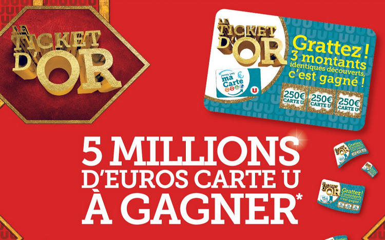 Le Ticket d'Or 2019 : 5 millions d'euros Carte U à gagner