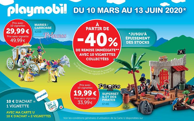 Vignettes Playmobil Super U 40 Minimum Sur Selection De Boites
