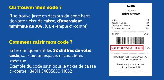 Comment trouver le Code lidl La Carte Chance ?