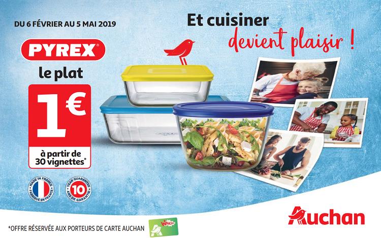 Auchan Carte De Fidelite En Ligne.Vignettes Auchan Plat Pyrex A 1 Seulement