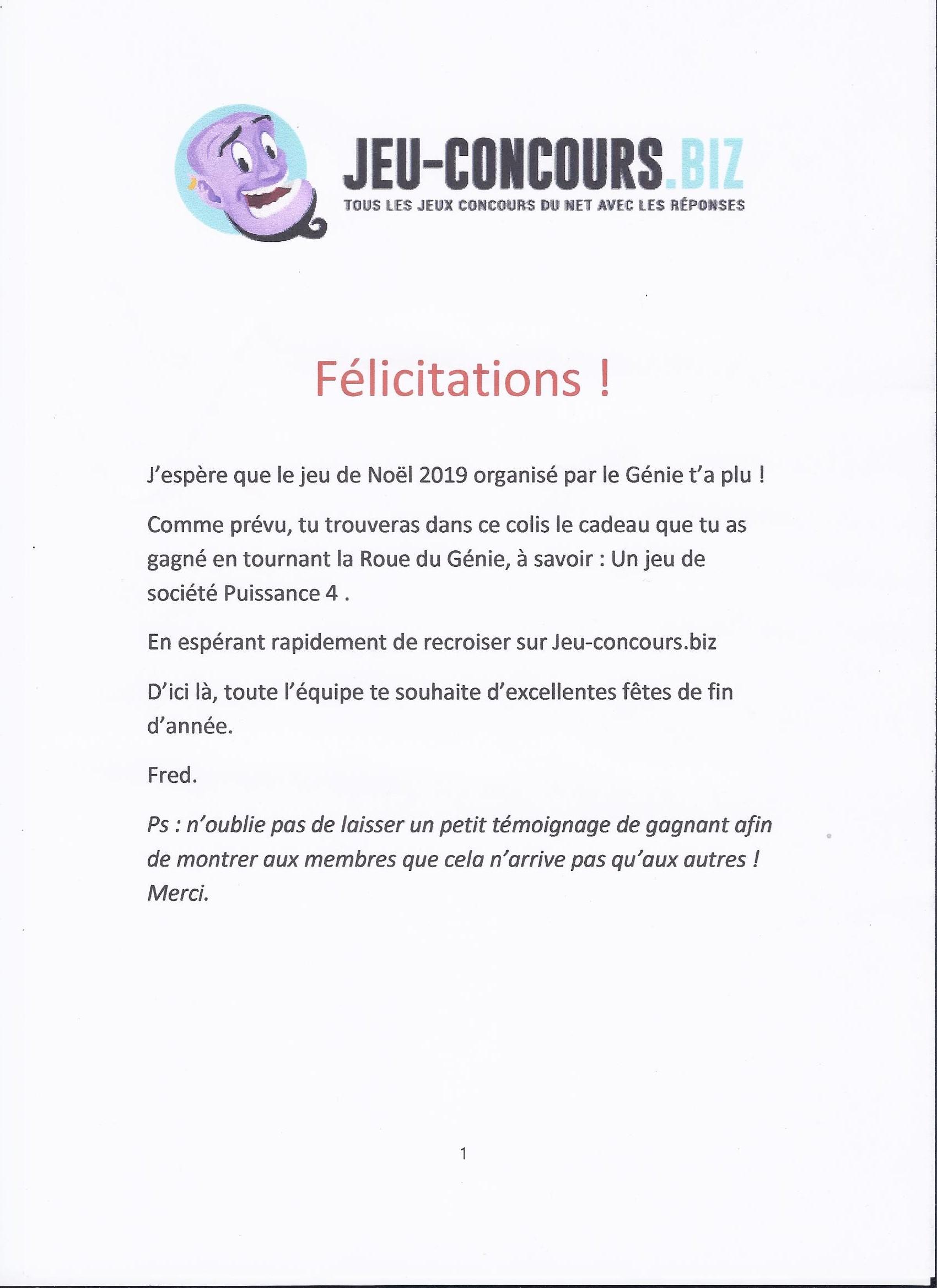 Temoignages De Gagnants Aux Jeux Concours Page 9